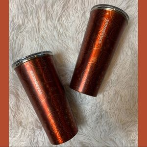 Starbucks Gold & Red Stainless Steel 16oz Cup
